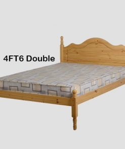 Med Sol Double Wooden Bed Set With Mattress 9