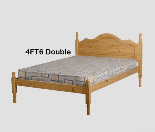 Med Sol Double Wooden Bed Set With Mattress 4