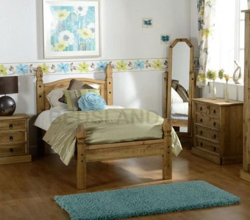 Corona Mexican wooden Bed set 1